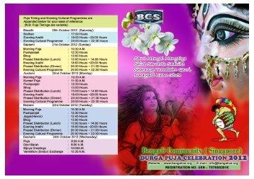 Durga Puja (2012) - Bengali Community Singapore – BCS