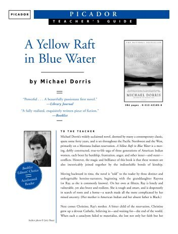a review of michael dorris yellow raft An interview with louise erdrich and yellow raft will come out under my name 80 the missouri review louise erdrich and michael dorris.