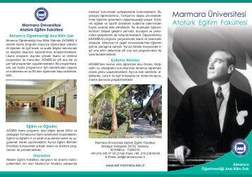 Almanca Öğretmenliği - Marmara Üniversitesi