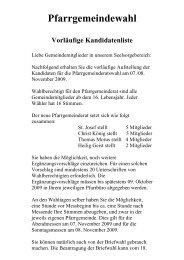 Zusatzheft Kandidaten PGR - Pfarrgemeinde Christ-König Neuss