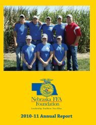 2010-2011 Annual Report - Nebraska FFA Foundation