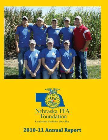 2010-2011 Annual Report - Nebraska FFA Foundation