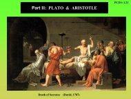 Part II: PLATO & ARISTOTLE - UBC Physics & Astronomy
