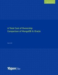 A Total Cost of Ownership Comparison of MongoDB & Oracle