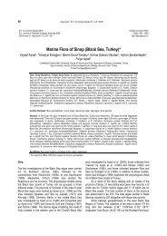 Marine Flora of Sinop (Black Sea, Turkey) - Journal of Fisheries and ...