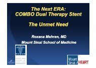 COMBO Dual Therapy Stent The Unmet Need - summitMD.com
