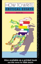 How to write critical essays - Noel's ESL eBook Library