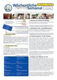 01.-07.10.2012 - Escola Alemã Corcovado