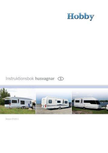 Instruktionsbok husvagnar S - Hobby Caravan