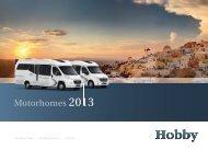 motorhomes 2013 - Hobby Caravan