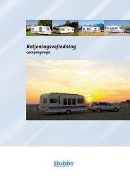 Betjeningsvejledning campingvogn - Hobby Caravan