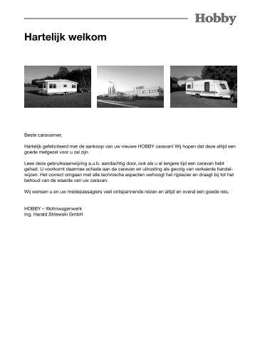 Hartelijk welkom - Hobby Caravan