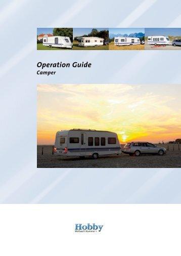 Operation Guide Camper - Hobby Caravan