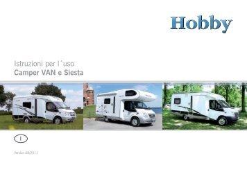 Istruzioni per l´uso Camper VAN e Siesta - Hobby Caravan