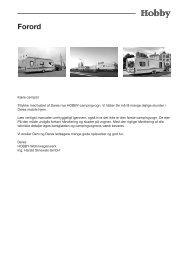 Forord - Hobby Caravan