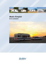 Mode d'emploi de la caravane - Hobby Caravan