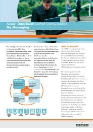 Alcatel OmniTouch Unified Communication My Messaging - HOC