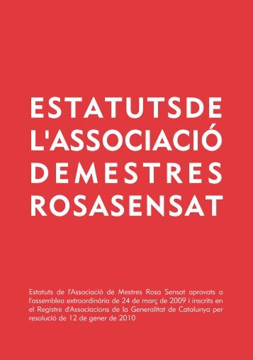 Estatutsperimprimir.pdf - Associació de Mestres Rosa Sensat