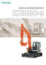 kx080-3 neuer kubota kompaktbagger - hoch-baumaschinen.de