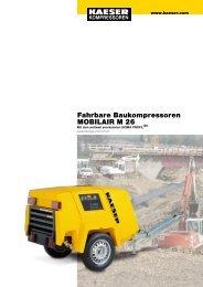 Fahrbare Baukompressoren MOBILAIR M 26 - SEITZ Drucklufttechnik