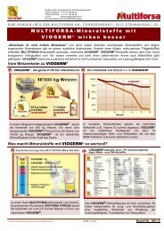 MULTIFORSA-Mineralstoffe mit - Hochdorf Nutritec AG