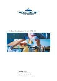 109. Geschäftsbericht 2003/2004 - Hochdorf Nutritec AG