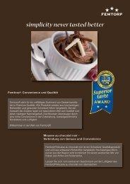 weitere Informationen zum Femtorp Mousse au chocolat noir