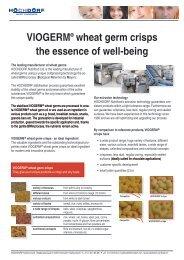 information about VIOGERM wheat germ crisps