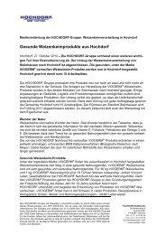 Gesunde Weizenkeime - Hochdorf Nutritec AG