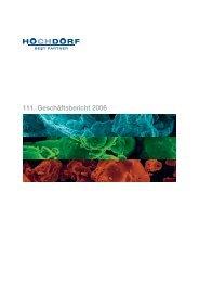 111. Geschäftsbericht 2006 - Hochdorf Nutritec AG