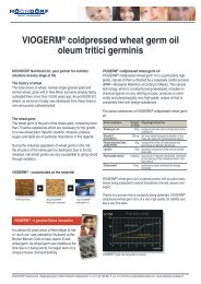 information about VIOGERM wheat germ oil