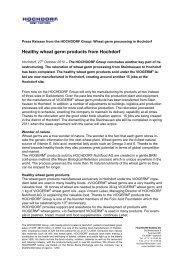 Healthy wheat germ products from Hochdorf - Hochdorf Nutritec AG