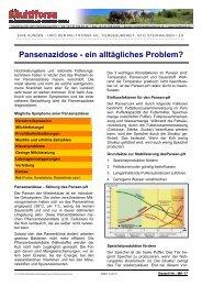 Pansenazidose - ein alltägliches Problem - Hochdorf Nutritec AG