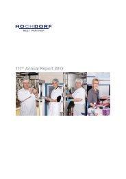 117th Annual Report 2012 - Hochdorf Nutritec AG