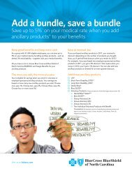 Add a bundle, save a bundle - Blue Cross and Blue Shield of North ...