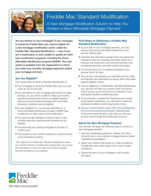 Standard Modification Fact Sheet English - Freddie Mac