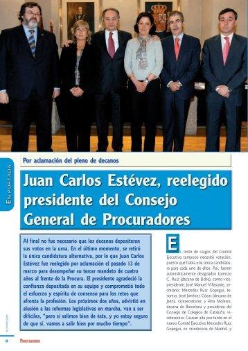 Juan Carlos Estévez, reelegido presidente del Consejo General de ...