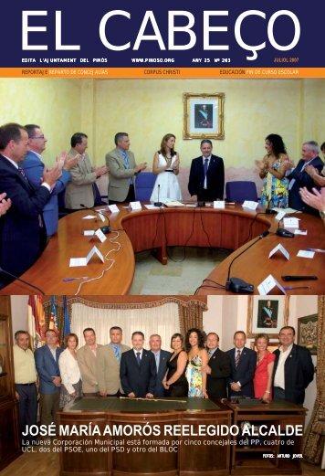 JOSÉ MARÍA AMORÓS REELEGIDO ALCALDE - Ayuntamiento de ...