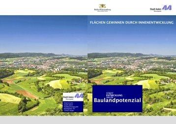 Flächen gewinnen durch Innenentwicklung - Stadt Aalen