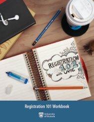 Registration 101 Workbook - University of Victoria