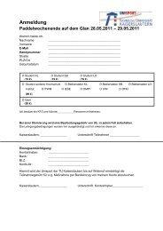 Anmeldung - Hochschulsport - Universität Kaiserslautern