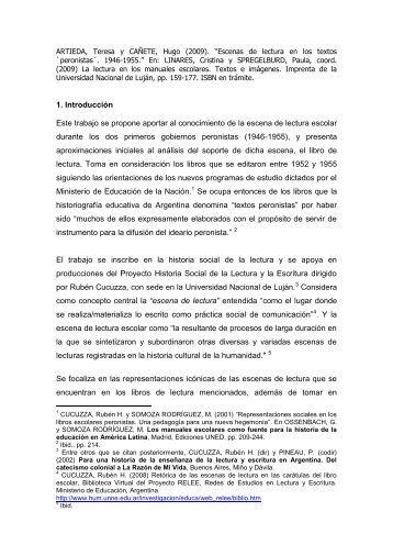 """Escenas de lectura en los textos """"peronistas"""" - Facultad de ..."""