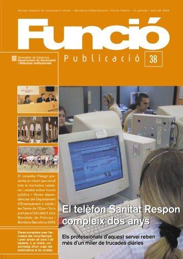 Publicació 38 - Generalitat de Catalunya