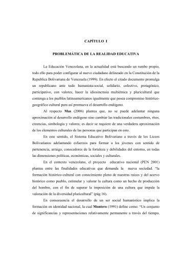 CAPÍTULO I PROBLEMÁTICA DE LA REALIDAD ... - Emagister