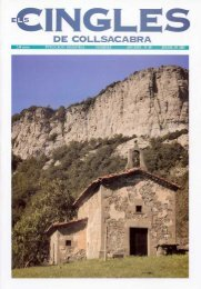 Revista ELS CINGLES - n49 juliol 2003 - Ajuntament de Tavertet