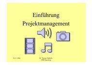 Einfuehrung Projektmanagement