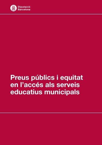 Preus públics i equitat en l'accés als serveis educatius municipals