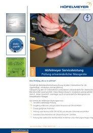 Spezifikationen als PDF - Höfelmeyer Waagen GmbH