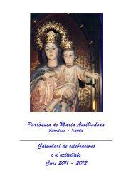 Calendari de celebracions i d'activitats Curs 2011 - 2012 - Parroquia ...