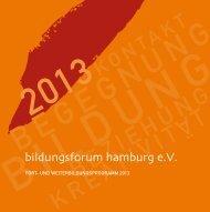 rogramm 2013 (PDF) - bildungsforum hamburg e.V.